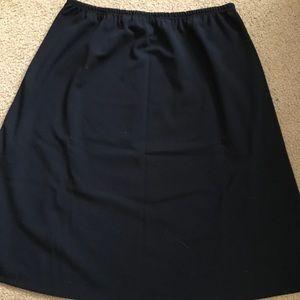 Navy Blue Petite Skirt